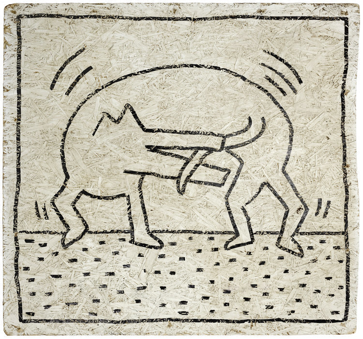 "KETIH HARING  ""Untitled"", 1984"