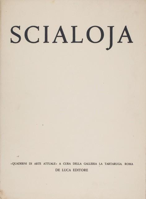 Toti Scialoja, 'Scialoja - Quaderni di arte attuale', 1959, Finarte