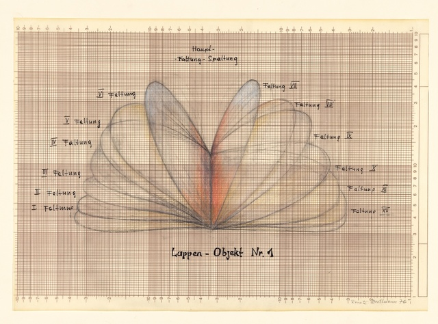 , 'Lappen-Objekt (Lobe object I),' 1976, Richard Saltoun