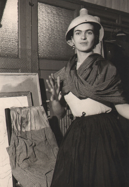 , 'Frida acting clownish with lamp on her head, N.W. School, NYC,' 1933, Keith de Lellis Gallery