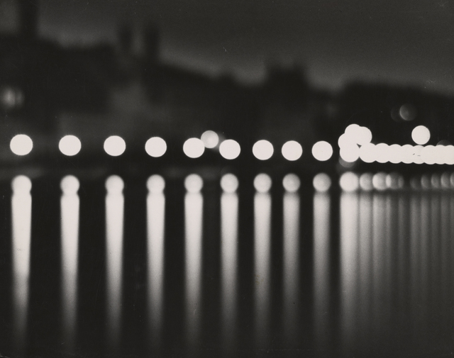 , 'Stockholm (at night with circular lights),' 1937, J. Paul Getty Museum