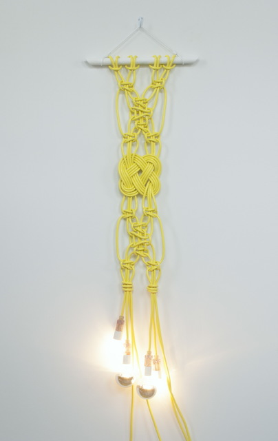 Dana Hemenway, 'Untitled (extension cords - four yellow)', 2015, Eleanor Harwood Gallery