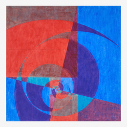 Untitled (Abstraction in Blue and Red)