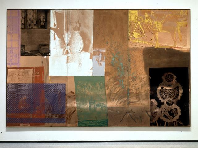 Robert Rauschenberg, 'Copperhead Grande / ROCI CHILE', 1985, Academy Art Museum