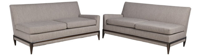 Tommi Parzinger, 'Pair of One-Arm Sofas', Design/Decorative Art, Lacquered wood upholstery, Heritage Auctions