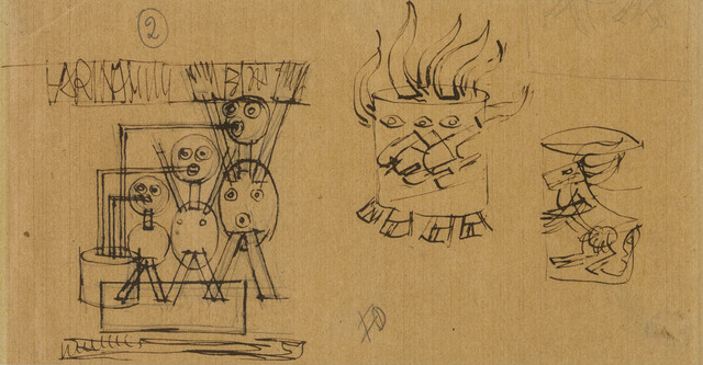 Fortunato Depero, 'Advertising studies for Farina Lattea Erba', 1921 c., Drawing, Collage or other Work on Paper, Ink on wrappig paper, ArtRite