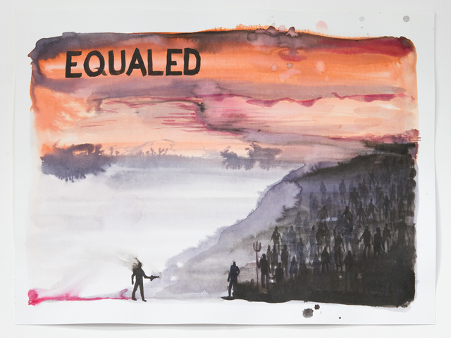 Senon Williams, 'Equaled', 2016, Painting, Watercolor, Capsule Gallery