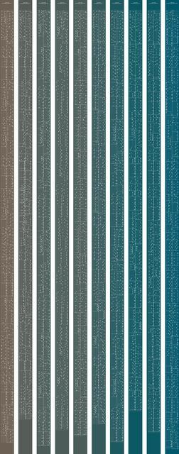 , 'metamorphosis music notation numeral 8,' 2015, Johan Deumens Gallery