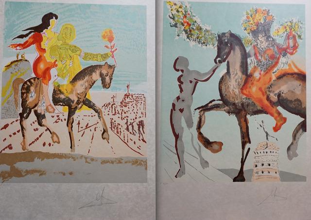 Salvador Dalí, 'New Jerusalem 2 Piece Suite', 1980, Print, 2 Lithographs on Japon Paper, Fine Art Acquisitions Dali