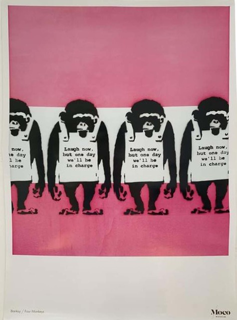 Banksy, 'Laugh now, But one day we'll be in charge Exhibition Poster', 2016, Artsnap