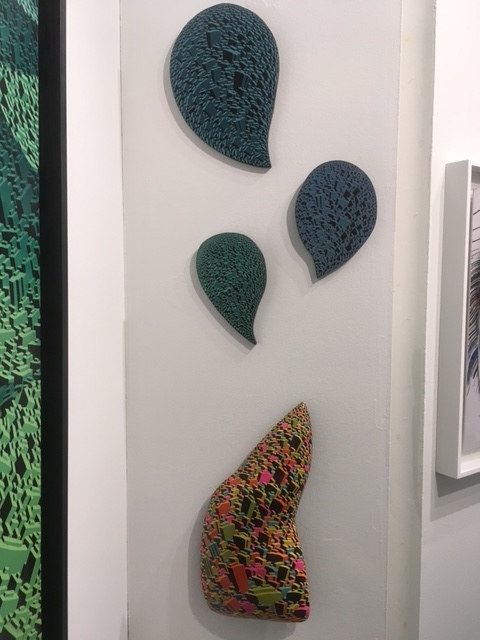 Two of the larger set of Jewellery Wall Sculptures from the Life City Series by Satoshi Koyama.