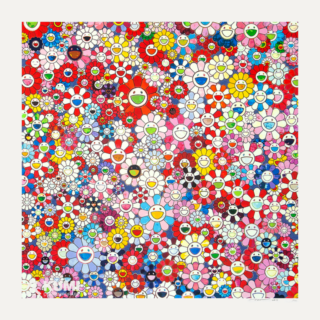 Takashi Murakami, 'Shangri-la Shangri-la Shangri-la Pink Silkscreen', 2017, Print, Silkscreen, Kumi Contemporary / Verso Contemporary