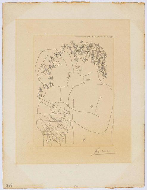 Pablo Picasso, 'Jeune sculpteur au travail', 1933, Print, Etching, Koller Auctions