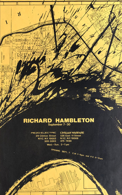 Richard Hambleton, 'Richard Hambleton 1983 Exhibition Poster ', 1983, Lot 180