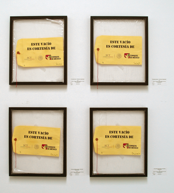 , 'Este vacío es cortesía de la Secretaria de Comunicaciones y Transportes,' 2013, Galeria Enrique Guerrero