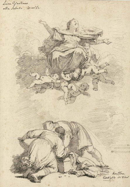, 'The Assumption of the Virgin, after Luca Giordano, and two figures, after Antonio Vassilacchi, l'Aliense,' , Christie's Old Masters