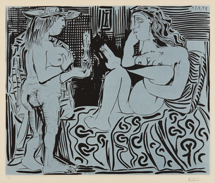 Pablo Picasso, 'Deux femmes avec un vase à fleurs (Two Women with a Vase of Flowers),' 1959, Phillips: Evening and Day Editions (October 2016)