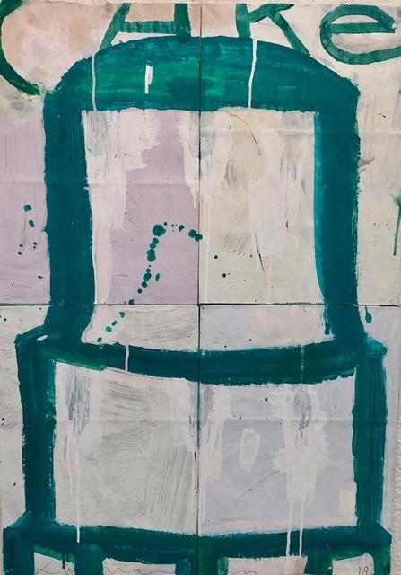 Gary Komarin, 'Teal on Creme and Pink', 2019, Laura Rathe Fine Art
