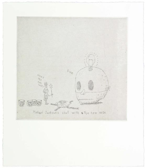 , 'The new nose for Micheal Jackson's skull,' 2014, Polígrafa Obra Gráfica