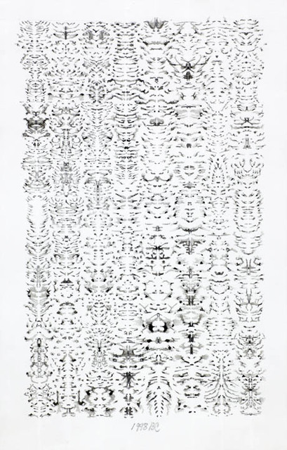 , 'inkblot Drawing June 1,' 1998, Anglim Gilbert Gallery