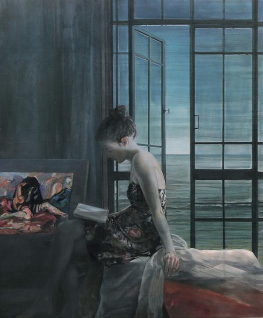 , 'Nocturne mit Munchs Weinender,' 2014, Joerg Heitsch Gallery