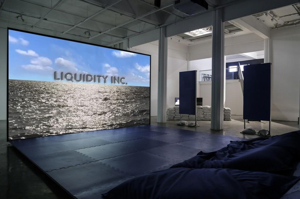 Hito Steyerl, <Liquidity INC.>, Single Channel HD Video in architectural environment, Color, Stereo Sound, 16:9, 30:00min., 2014