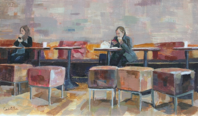 , 'Interior in stools,' , Castlegate House Gallery