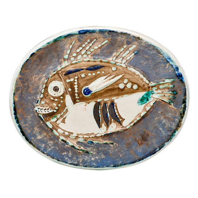 Pablo Picasso, 'Mottled Fish plate (Poisson Chiné), edition of 200, France', des. 1952, Rago