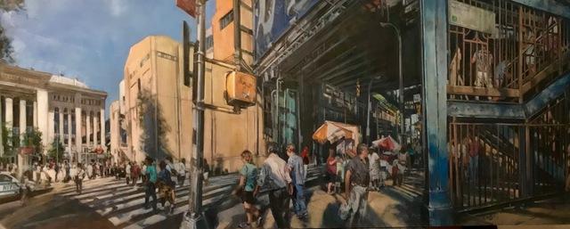 Steven Katz, 'Yankee Stadium', 2019, Painting, Oil on panel, George Billis Gallery