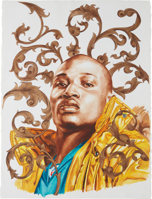Kehinde Wiley, 'Le Roi a la Chasse (study)', 2007, Phillips