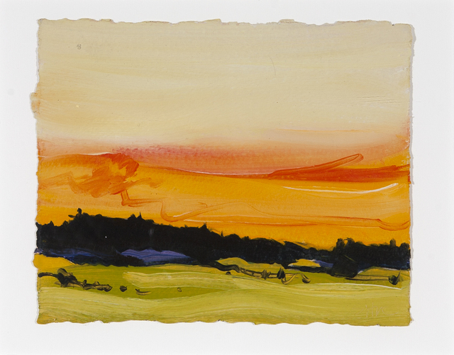Susan Headley Van Campen, 'Sunset, Oyster River Farm ', Painting, Oil on gessoed, Dowling Walsh