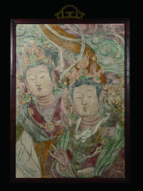, 'A Large Polychrome Fresco Fragment of Rectangular Form Painted with Two Female Immortals 明早期|15世紀早期 灰泥彩繪仙女圖壁畫殘部,' China: early Ming Dynasty-early 15th century, Rasti Chinese Art