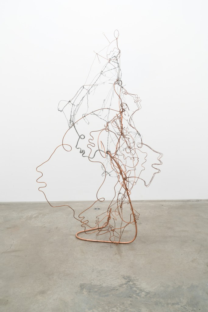 Lonnie Holley Grounded by the Lightning Rod, 2017 Steel and copper wire 198.1 x 116.8 x 58.4 cm (78 x 46 x 23 in) © The Artist, Courtesy James Fuentes Gallery