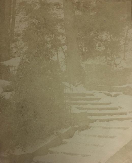 , 'Escalier sous la neige, Manufacture de Sèvres,' ca. 1852, Baudoin Lebon Gallery