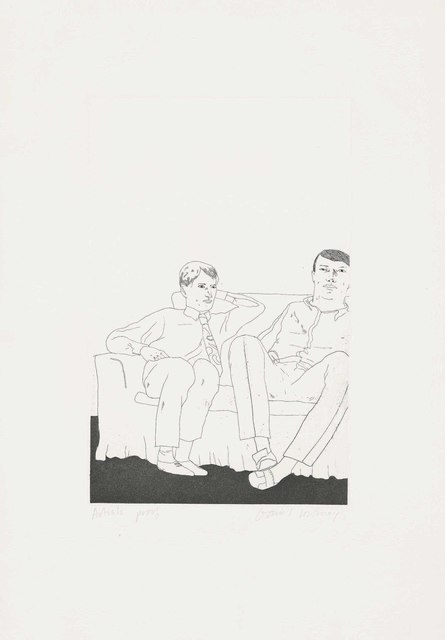 David Hockney, 'Untitled (Two young Men on a Sofa)', 1966, Christie's
