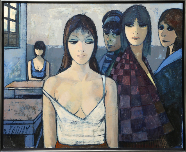 Charles Levier, 'La Cantine (The Cafeteria)', ca. 1970, Painting, Oil on canvas, RoGallery