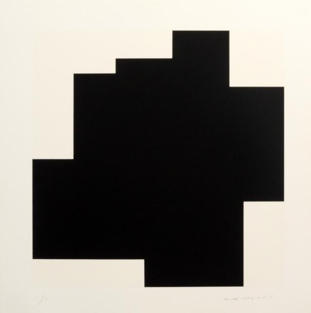 Aurelie Nemours, 'Structure du Silence I', 1989, Print, Serigraphie H-C, Galerie La Ligne