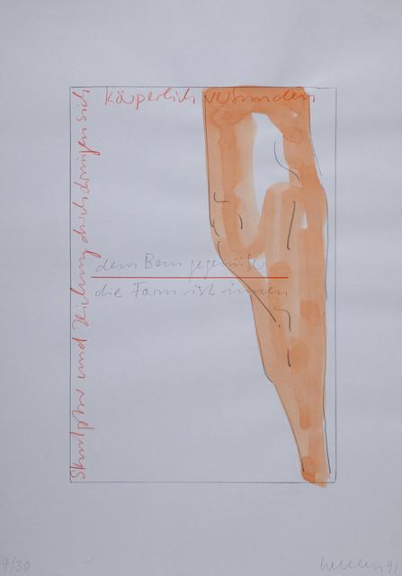 Franz Erhard Walther, 'dem Bau gegenüber, die Form ist innen ', 1991, and the editions