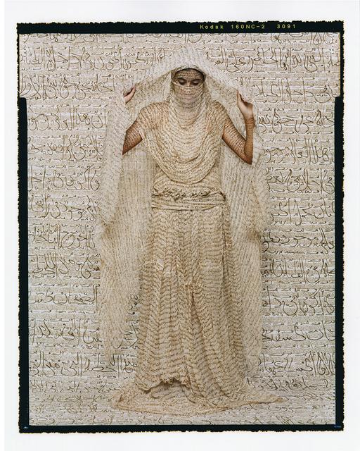 Lalla Essaydi, 'Les Femmes du Maroc: Moorish Woman', 2008, Photography, Chromogenic print mounted to aluminum with a UV protective laminate, Sundaram Tagore Gallery