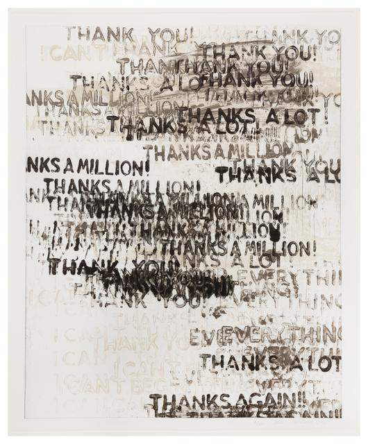 Mel Bochner, 'Thanks', 2015, Hindman