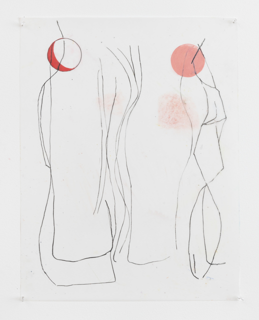 Vicki Sher, 'Moonwalkers', 2018, Painting, Oil pastel and pencil on drafting film, FROSCH&CO