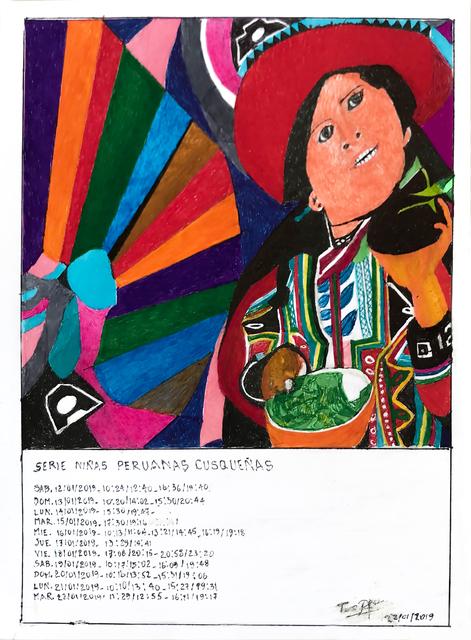 Teresa Burga, 'Serie niñas peruanas cusqueñas', 2019, 80M2 Livia Benavides