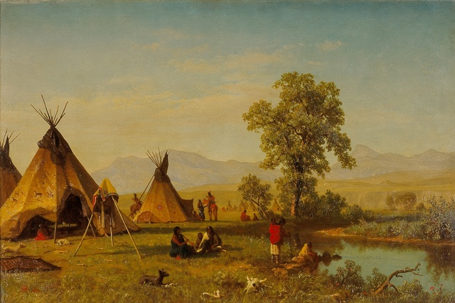 , 'Sioux Village near Fort Laramie,' 1859, Blanton Museum of Art