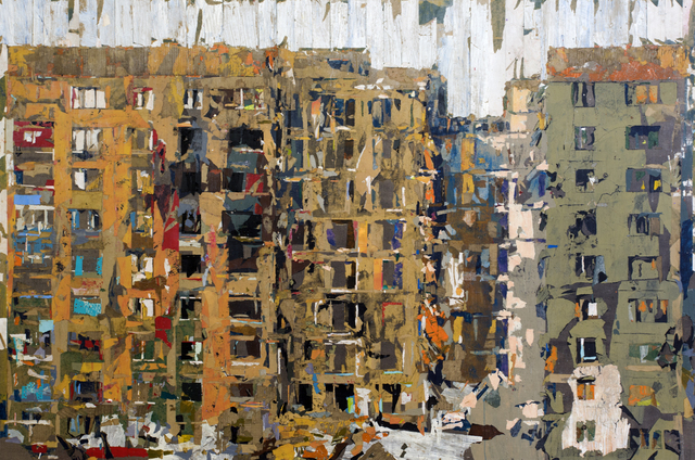 Tammam Azzam, 'Untitled', 2019, Painting, Paper collage on canvas, Haines Gallery