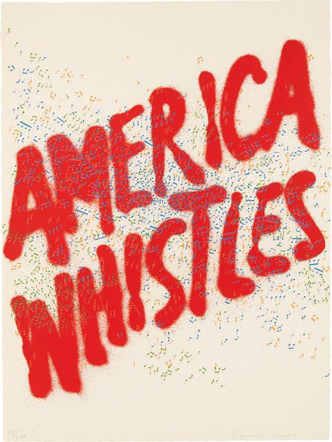 Ed Ruscha, 'America Whistles, from America: The Third Century', 1976, Phillips