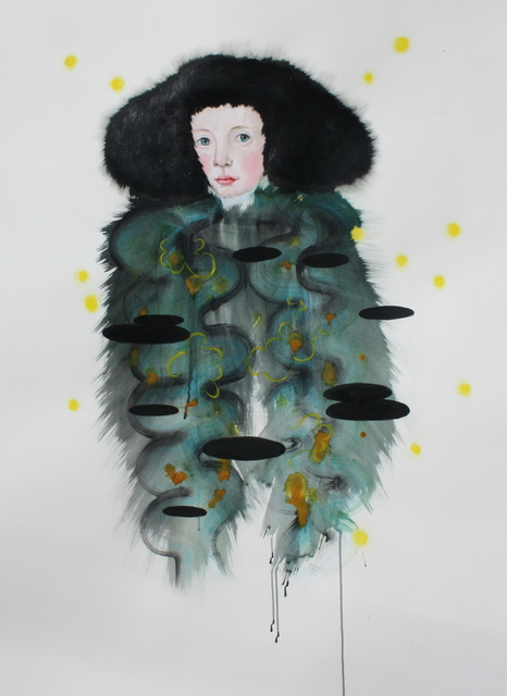, 'Fur Hat Drawing,' 2018, Patricia Rovzar Gallery