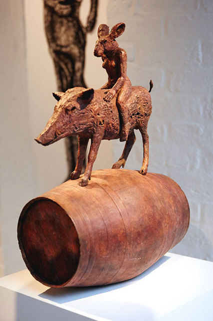 , 'Lady Hare and Boar on a Barrel, Maquette (B/17/01),' 2017, Galerie de Bellefeuille
