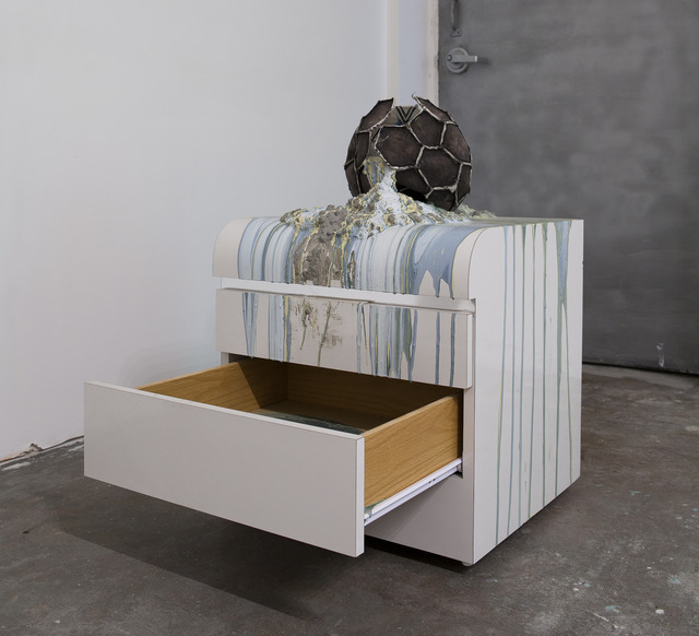, 'Imploded Ball Barf (deco drawer),' 2011, Nina Johnson