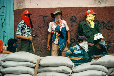 Muchachos await the counterattack by the National Guard, Matagalpa, Nicaragua, 1978