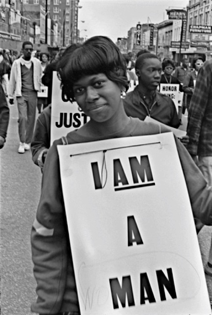 , 'I AM A (WO)MAN, Martin Luther King Memorial March for Union Justice and to End Racism, Memphis, TN,' 1968, Arnika Dawkins Gallery